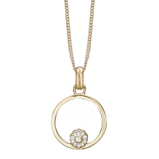 Load image into Gallery viewer, The Christina Jewelry's Infinite Purity Pendant is beautifully designed to subtly remind one of the beauty and purity of endless unconditional love  The Infinite Purity Pendent is embellished with Real White Topaz Gemstone, and for that special touch and to make our Pendant Collection even more special, all the Pendants in our collection are delicately and expertly handcrafted in 925 Sterling Silver and finished in either 18ct Gold or Rhodium Plating.