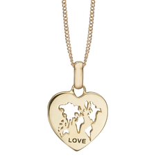 Load image into Gallery viewer, It's a World of Love where all our family and friends show love to us and there is no better loving feeling. The World of Love Pendant incapsulates what is important to us, This Pendant is delicately and expertly handcrafted in 925 Sterling Silver and finished with either an 18ct Gold or Rhodium Plating