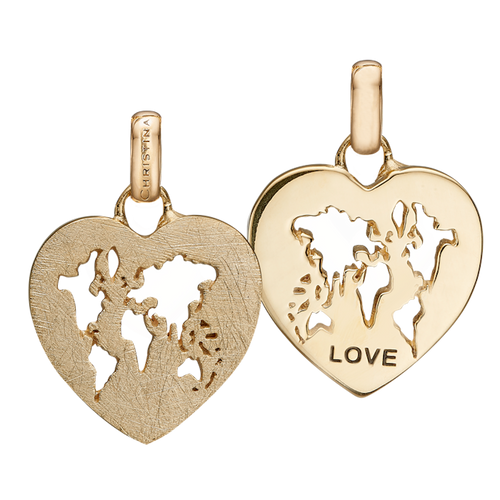 It's a World of Love where all our family and friends show love to us and there is no better loving feeling. The World of Love Pendant incapsulates what is important to us, This Pendant is delicately and expertly handcrafted in 925 Sterling Silver and finished with either an 18ct Gold or Rhodium Plating
