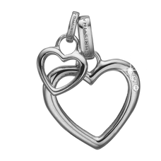 Load image into Gallery viewer, Open Mother Hearts Pendant Silver with Gemstones
