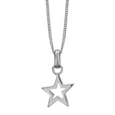 Load image into Gallery viewer, Star Necklace Silver