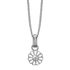 Load image into Gallery viewer, Petite  Marguerite Necklace Silver with Gemstones