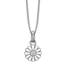 Load image into Gallery viewer, Small Marguerite Necklace Silver with Gemstones