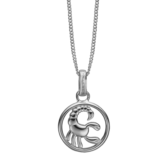 Zodiac Scorpio Necklace Silver