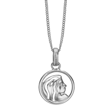 Load image into Gallery viewer, Zodiac Virgo Necklace Silver