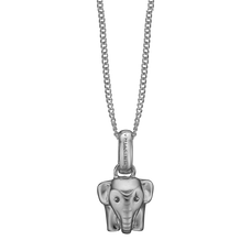 Load image into Gallery viewer, Lucky Elephant Necklace Silver with Gemstones