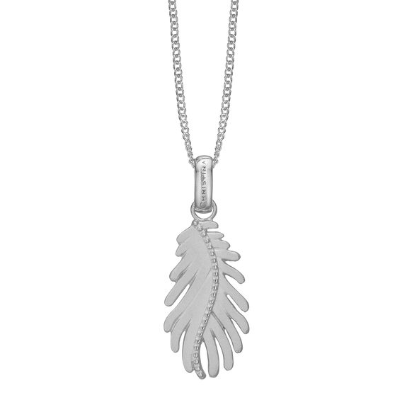Pine Leaf Necklace Silver