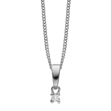 Load image into Gallery viewer, Small Diamond Pendant Necklace Silver with Gemstones