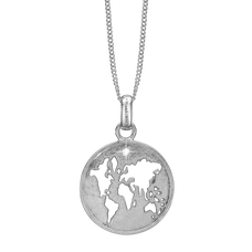 Load image into Gallery viewer, The World Necklace Silver with Gemstones