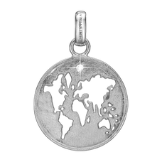 Load image into Gallery viewer, The World Pendant Silver with Gemstones