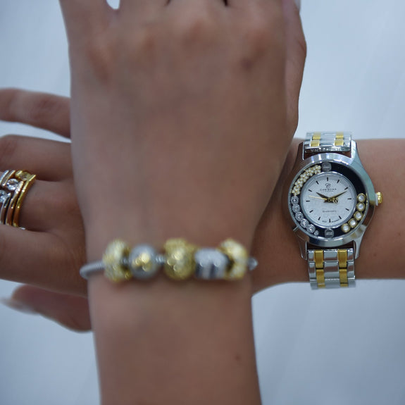 Two Tone Bouquet, Collect Watch Set with Two Tone Steel bracelet