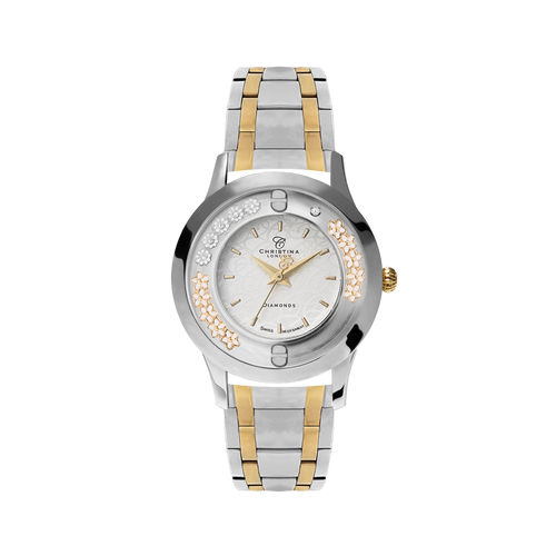 Two Tone Bouquet, Collect Watch with Two Tone Steel bracelet