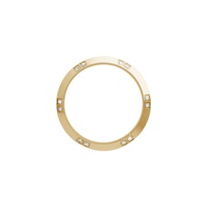 Load image into Gallery viewer, Gold, Serene Bezel, Bezel with Saphire Glass and White Gemstones