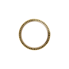 Load image into Gallery viewer, Gold, Serene Bezel, Bezel with Saphire Glass and Black Gemstones