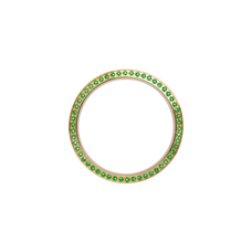Load image into Gallery viewer, Gold, Serene Bezel, Bezel with Saphire Glass and Green Gemstones