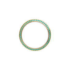 Load image into Gallery viewer, Serene Bezel, a Collect Watch Accessory with Genuine Turquoise Topaz Gemstones