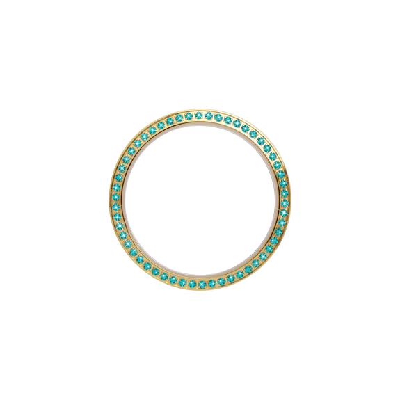 Serene Bezel, a Collect Watch Accessory with Genuine Turquoise Topaz Gemstones