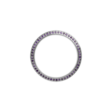Load image into Gallery viewer, Silver, Serene Bezel, Bezel with Saphire Glass and Purple Gemstones