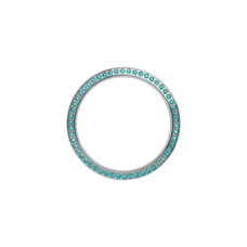 Load image into Gallery viewer, Silver, Serene Bezel, Bezel with Saphire Glass and Turquoise Gemstones