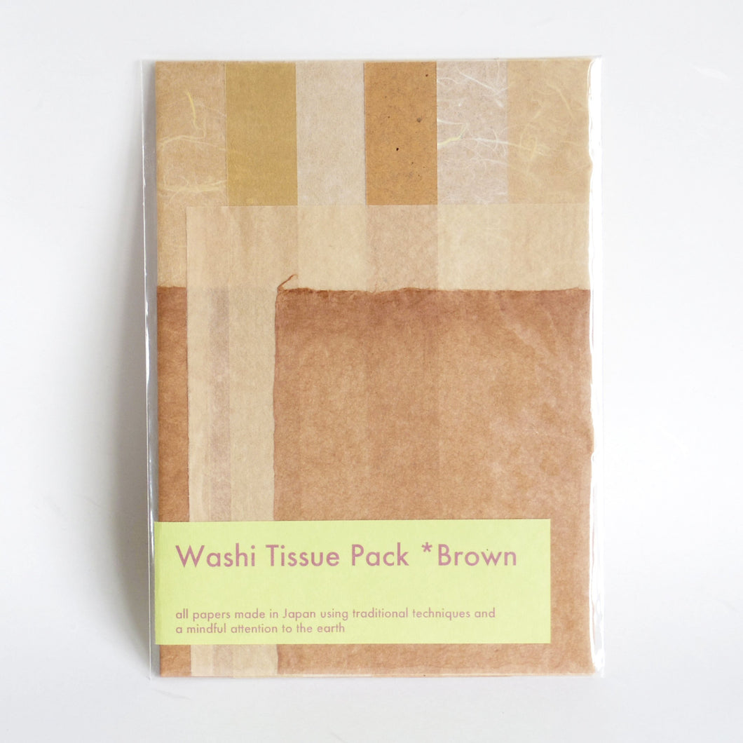 Washi Tissue Pack Brown