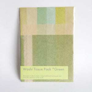 Washi Tissue Pack Green