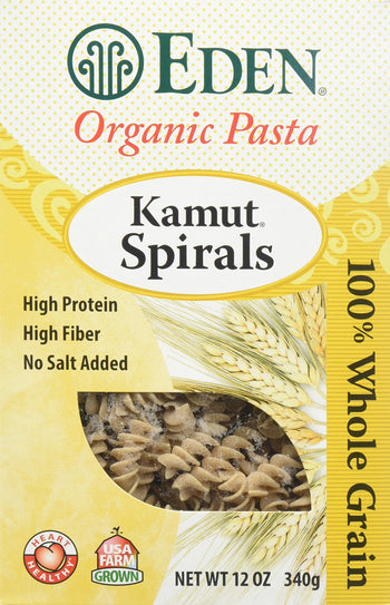 Kamut Pasta Spirals Eden Foods Whole Ancient Grain