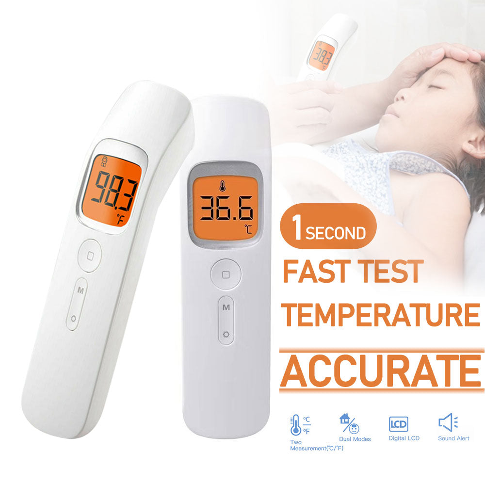 Non-Contact Infrared Temperature IR Thermometer Digital LCD Display with Optional Storage Bag