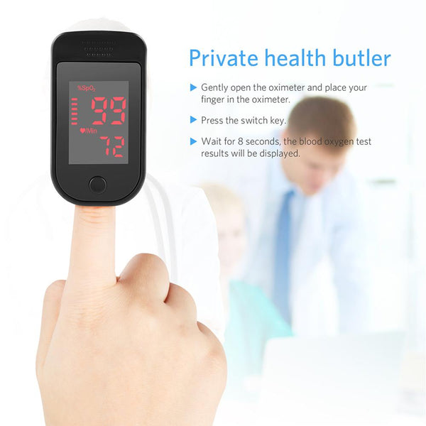 Fast Delivery Fingertip Pulse Oximeter Finger Oxygen Saturation Monitor Finger Home Family Health Care