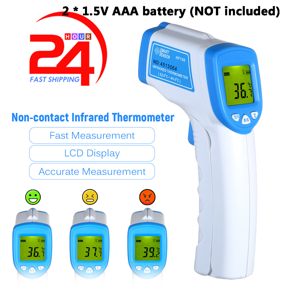 Non-contact Temperature Sensor, Touchless Thermometer Infrared Digital High Precision Measurement Tools with Fever Alarm