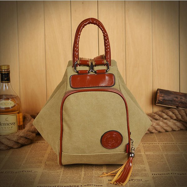 Women Canvas Tassel Backpack Casual