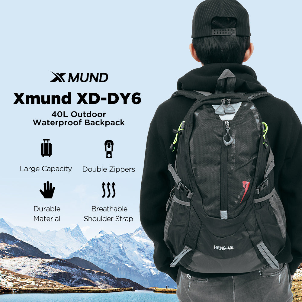 Xmund™ Waterproof 40L Nylon High Strength Backpack