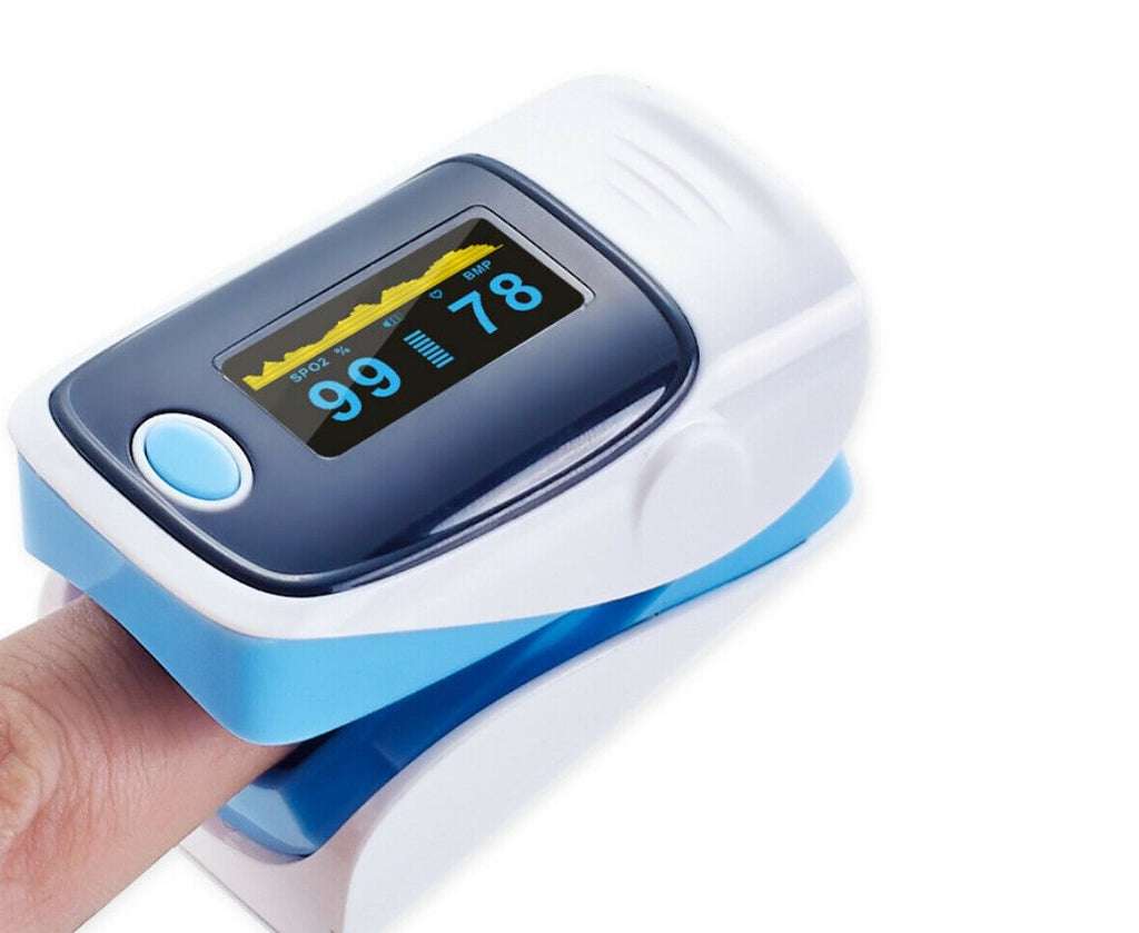 Finger Pulse Oximeter Blood Oxygen Tester SpO2 Monitor Respiratory Rate FDA/CE Certified