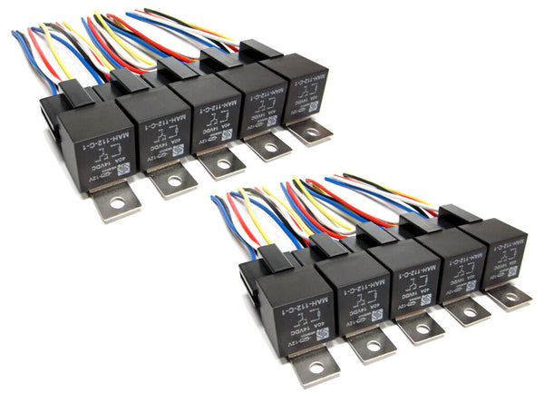 Premium Automotive 12v 40a SPDT Relays & Sockets (20 Pcs)