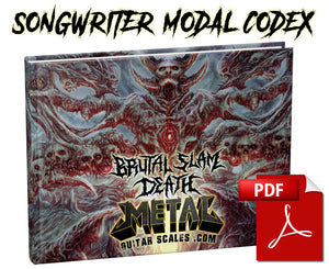 BRUTAL SLAM DEATH - SONGWRITER MODAL CODEX EBOOK
