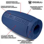 dark-blue alpha grips 2.5 inches features Iron Bull Strength