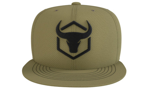 army-green cap with fitness logo