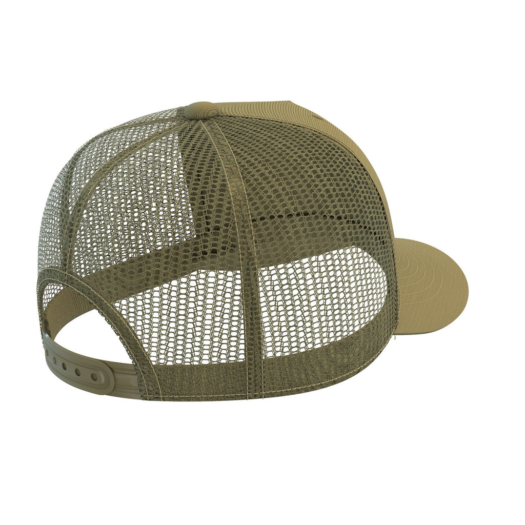 army-green sports fitness trucker cap