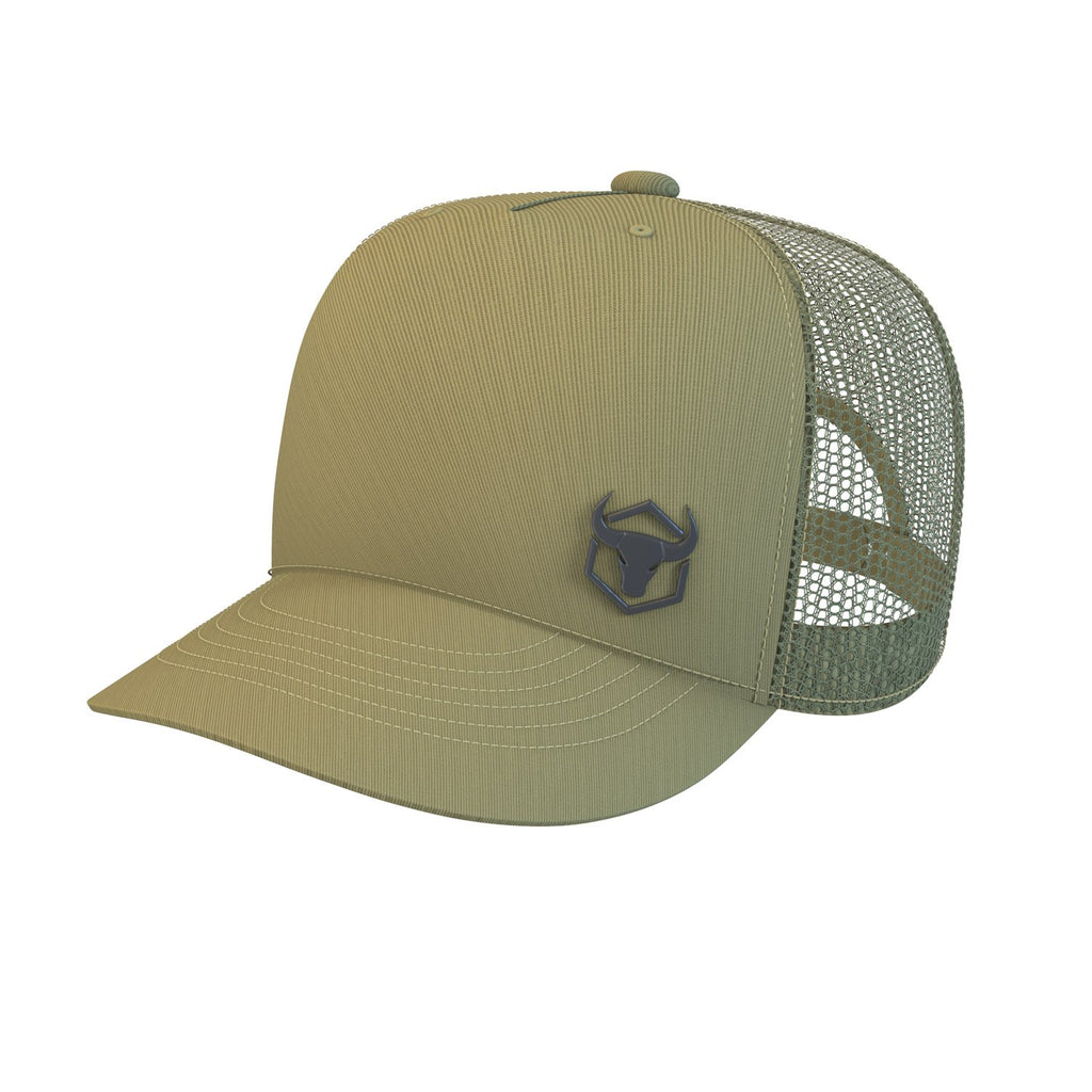 army-green trucker cap iron bull strength