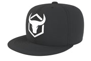 black-white-logo acrylic snapback iron bull strength
