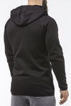 black tapered fit zip hoodie bodybuilder strongman