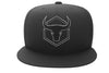 black-black cap with fitness logo
