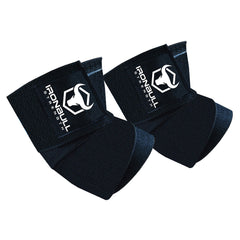 Black iron bull strength elbow wraps for bench press