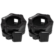 black nylon barbell collars pair