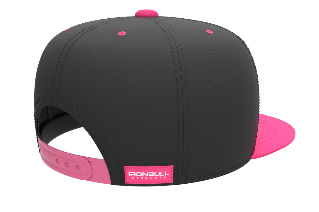 black-pink adjustable snapback iron bull strength