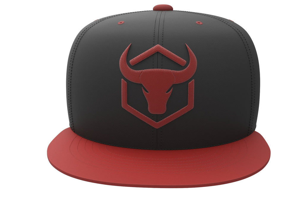 black-red cap with fitness logo