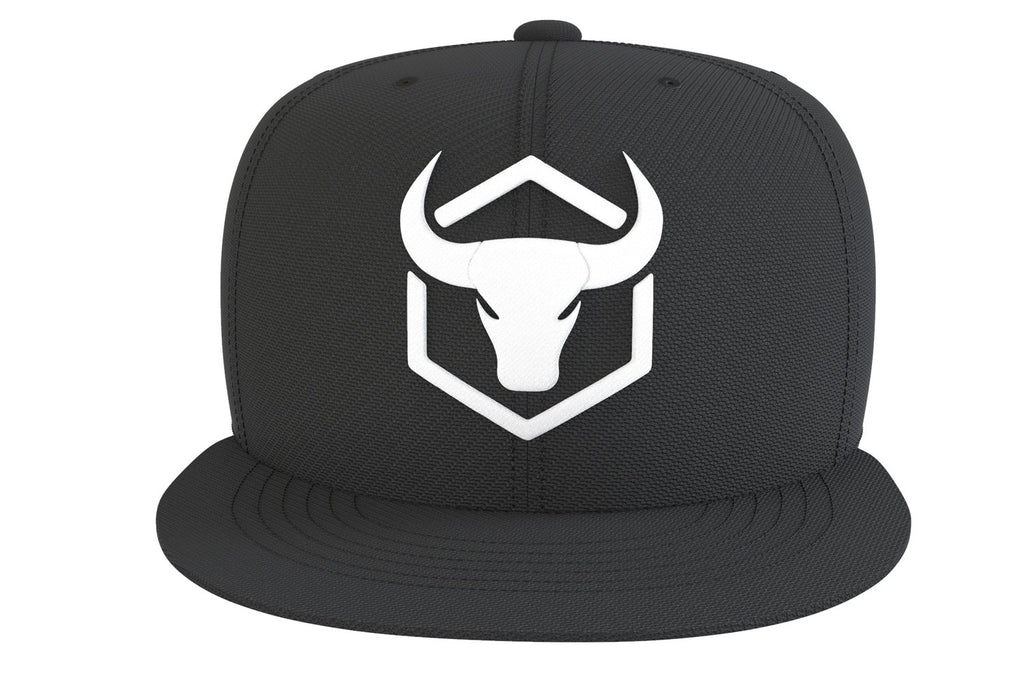 black-white-logo cap with fitness logo