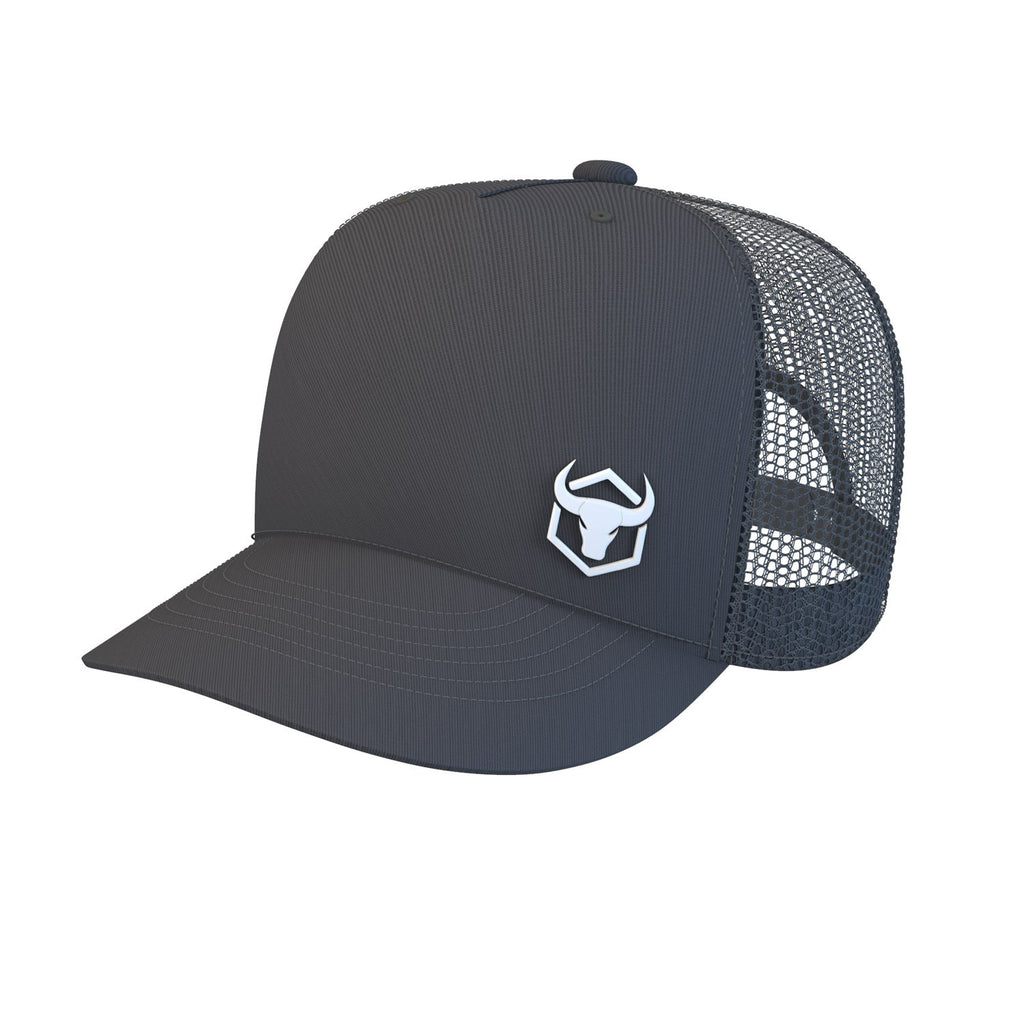 black trucker cap iron bull strength