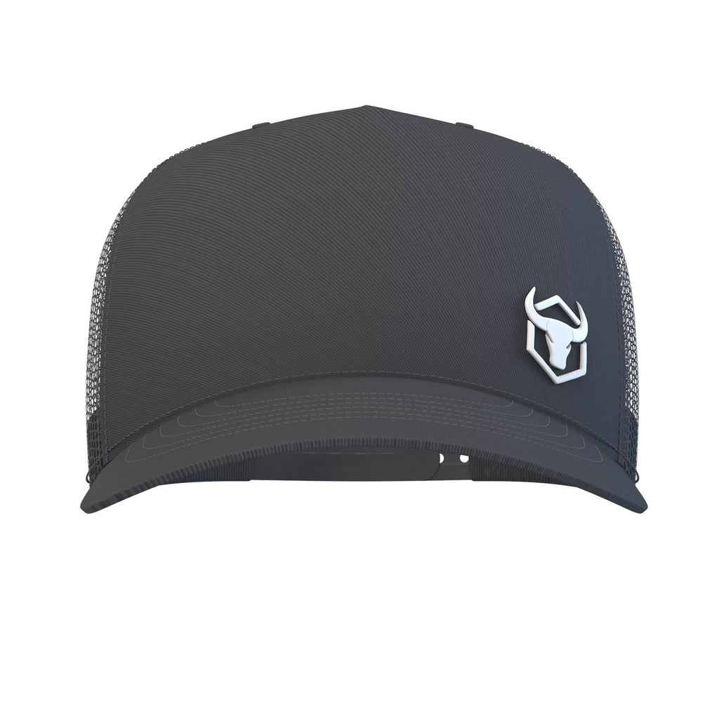 black trucker hat iron bull strength