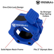 blue nylon barbell collar features