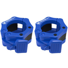 blue nylon barbell collars pair